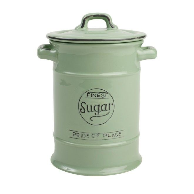 T&G Pride of Place Sugar Jar - Old Green