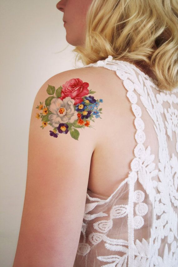 Vintage Inspired Flower Tattoo - 62.5KB