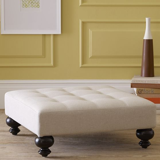 New Essex Tufted Ottoman modern ottomans and cubes