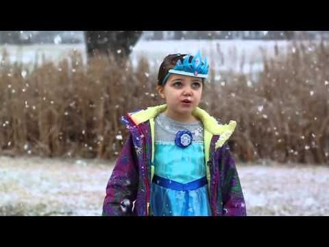 Disney - 4 year old wanted to dress like Elsa, and sing in the snowstorm