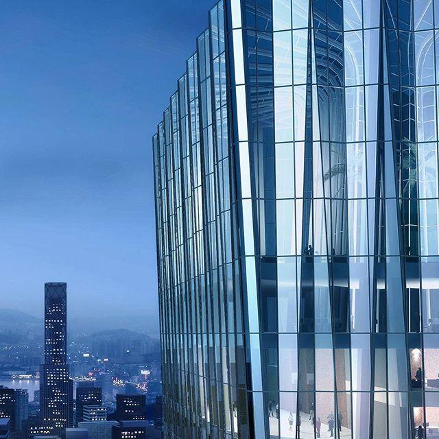 Hongtu Innovation Plaza, Nanshan District, Shenzhen, People's Republic of China.  #architecture #ptwarchitects #mixeduse #shenzenskyline #geometric #iconictower #commercialarchitecture