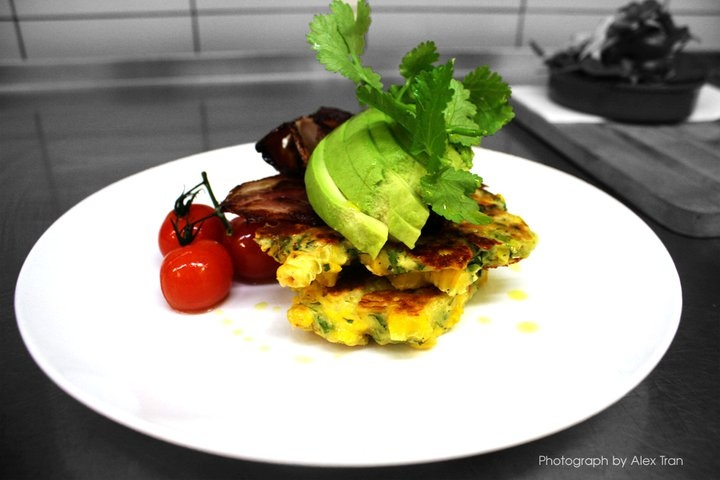 Corn fritters ~ one of our most popular dishes