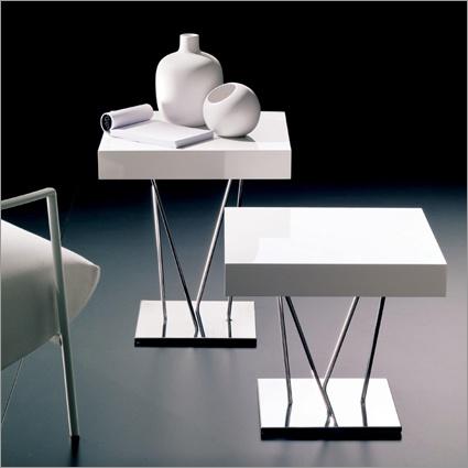 Bontempi Casa Ginger Square Side Table, Black Or White