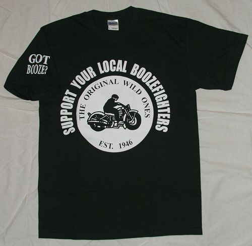 Boozefighters support shirt | Boozefighters | Motorcycle clubs, Mens