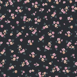 Roses Ditsy by Petroula Tsipitori Seamless Repeat Vector Royalty-Free Stock Pattern