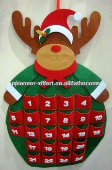 Felt christmas decoration wall decoration advent calendar reindeer shaped