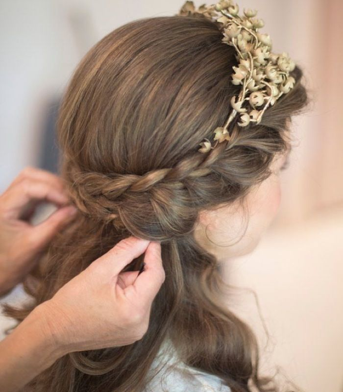 Wedding Hair French Braid: 38 Best Images About Wedding Hair On Pinterest