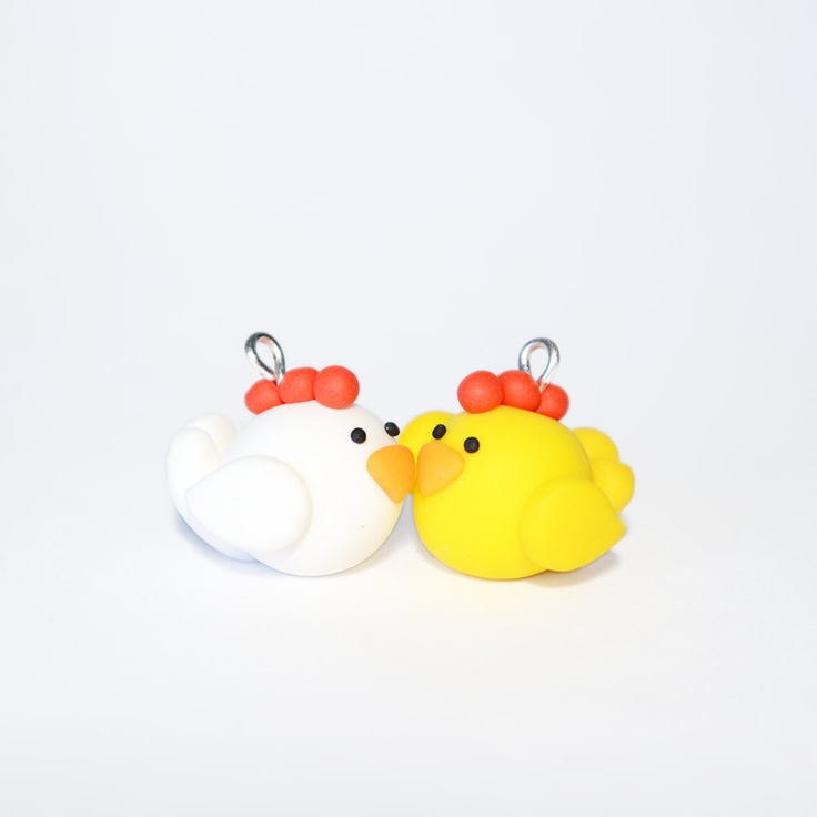 Cute Chicken Charms Polymer Clay Charms