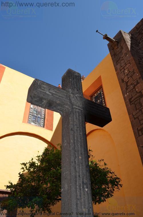 San Juan Del Rio Church Front Cross