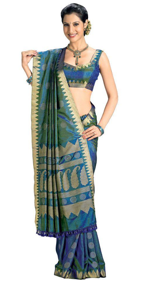 Kanchipuram Silk Sarees | Kanchipuram Silk Saree Exporter, Supplier, RAJA ASLAM ENTERPRISES ...