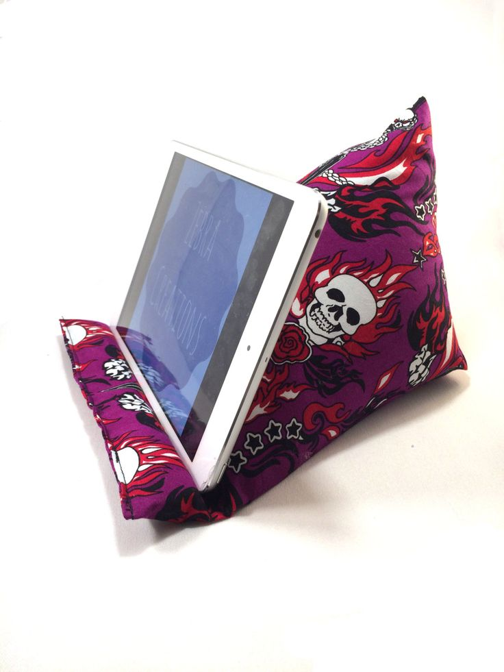 iPad cushion, tablet cushion, iPad cushion stand, tablet cushion stand, rockabilly goth inspired by ZebraCreationsUK on Etsy