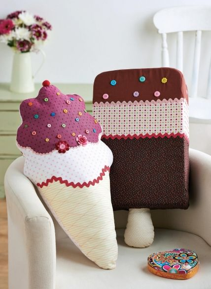 Cotton Print Ice Cream Cushions
