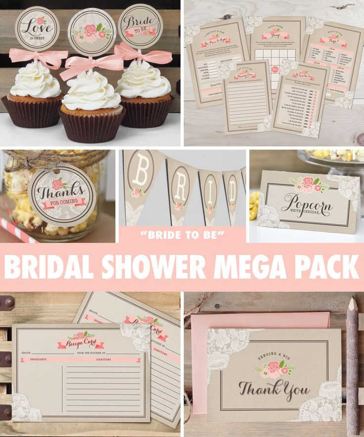 Rustic Lace Bridal Shower Mega Pack // INSTANT DOWNLOAD // Games & Decorations // Shower Kit // Blush Pink Coral // Digital Printable ws02 by ThePrettyPaperStudio on Etsy https://www.etsy.com/listing/225714492/rustic-lace-bridal-shower-mega-pack