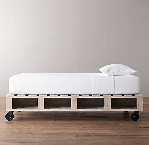 Warehouse Pallet Bed | All Beds | Restoration Hardware Baby U0026 Child |  Pallet Bedroom | Pinterest | Restoration Hardware Baby, Restoration Hardware  And ...