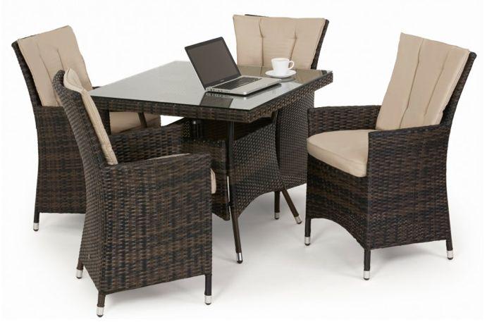 LA 4 seat dining set - Koncept Furnishing