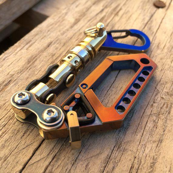 Titanium Key chain Swivel Carabiner N19 / by EdcApparatus on Etsy