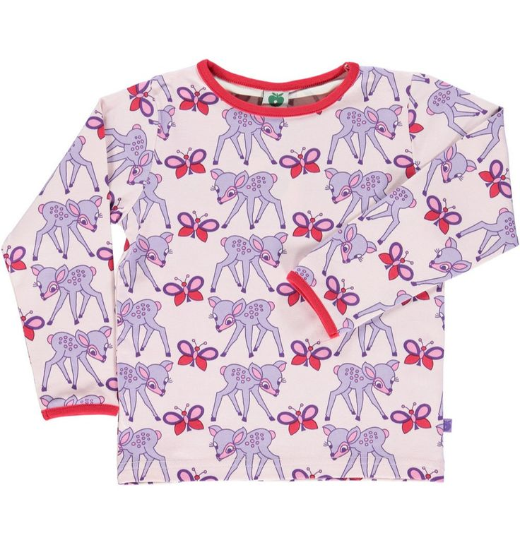 Smafolk Deer and Butterfly Long Sleeved T-shirt