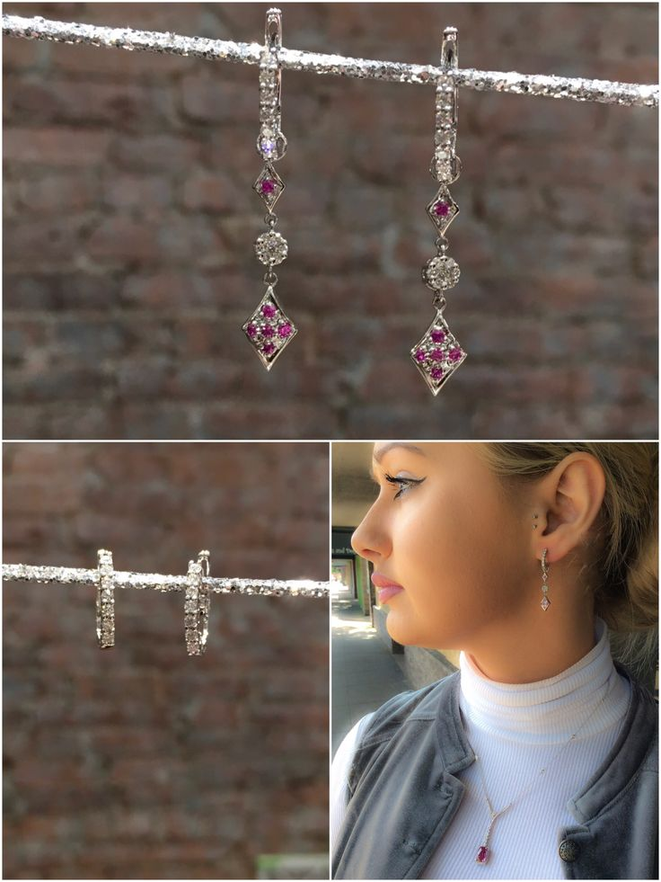 We know what you need for a Friday ❤️ featuring our Pink tourmaline diamond pendant. As well as our fabulous Pink Sapphire Diamond dangle/huggie earrings. Two ✌️for the price of one ☝️! You can switch up your look in seconds 😁 #downtownchico #shoplocal #fashionforward #fashionblogger #pinktourmaline #pinksapphire #elegant #jewelry