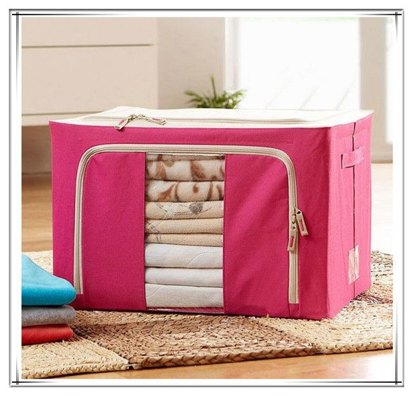 ==> [Free Shipping] Buy Best 2016 new arrive large Stainless Steel oxford clothing storage box solid color Sheet bedding bag storage organizer Online with LOWEST Price | 32564026136