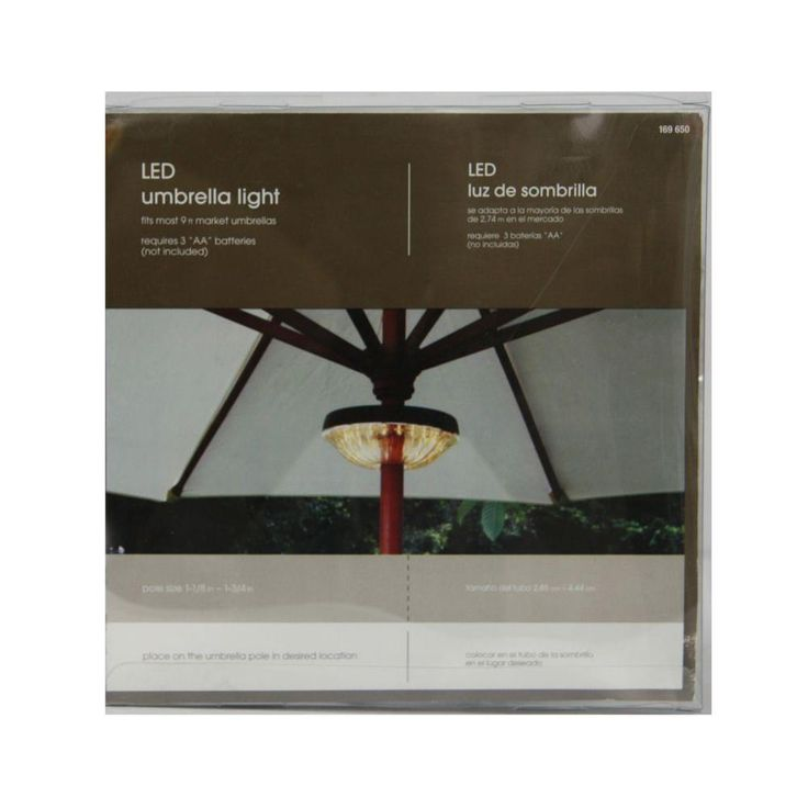 20-Bulb Clamp-On LED Umbrella Light-KF09005 - The Home Depot