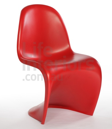 Replica Plastic 'Panton S' Chair Red from life interiors 99$