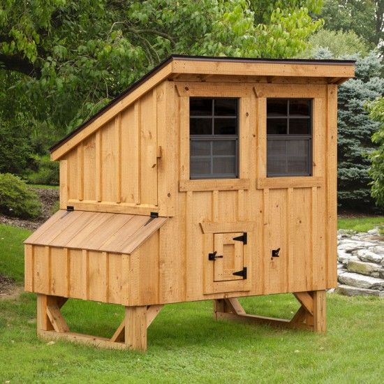 Amish Natural #Lean-to #Chicken #Coop - 4 x 5