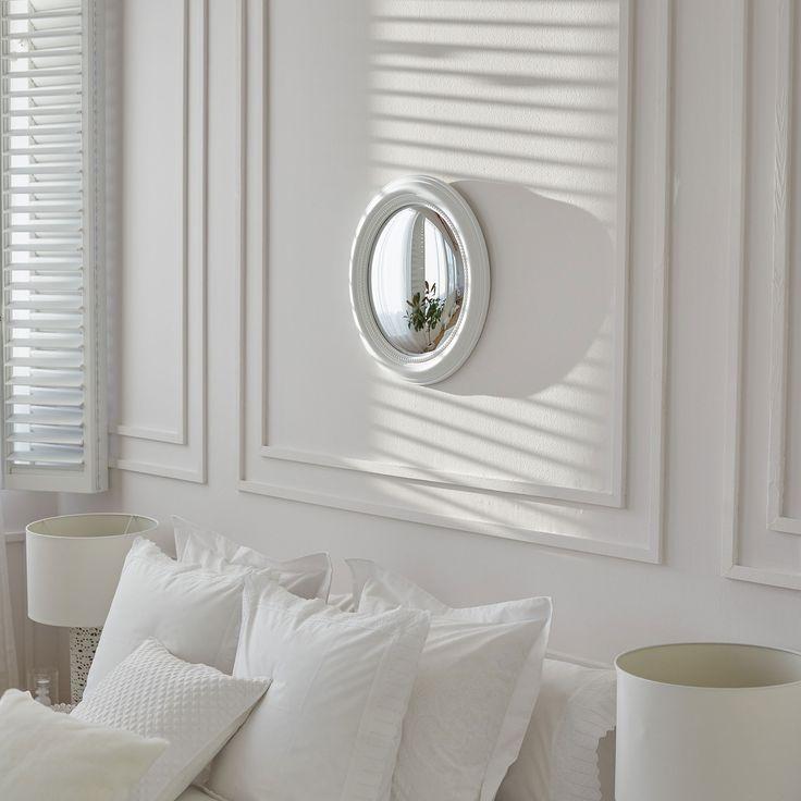 White raised convex mirror - MIRRORS - DECORATION   Zara Home Hungary
