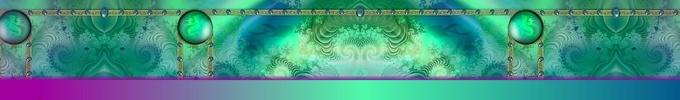 aqua and purple page banner