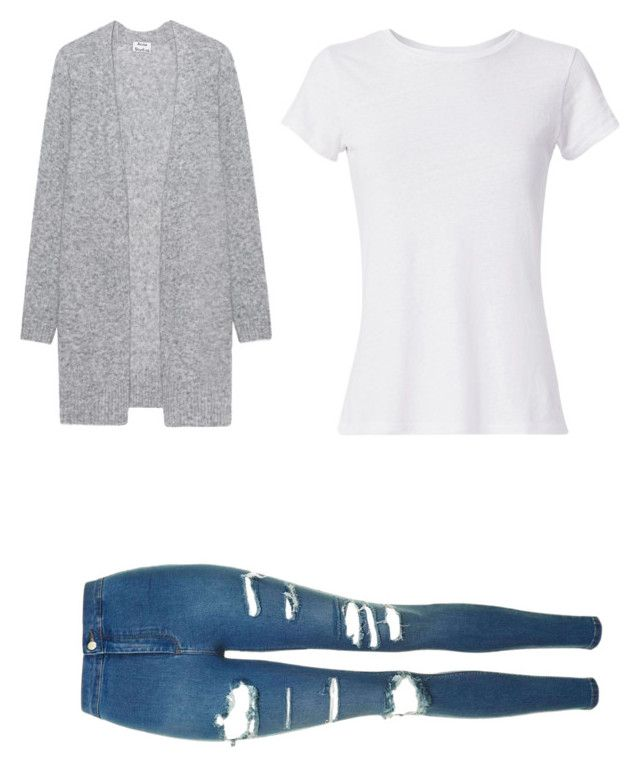 """Okt. 27"" by rekac on Polyvore featuring Acne Studios, Hanes and Topshop"
