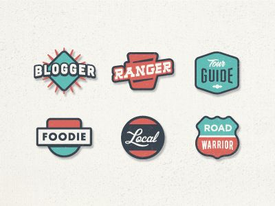 Working on some badges for our super active users. These would appear alongside their user pic to signify their expertise.  We also just launched our new Beta. Check it out!: www.roadtrippers.com