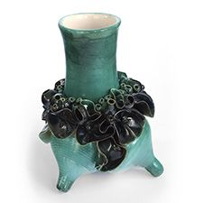 Charlene Brown, Untitled, 2011. Low fire clay with oxides and glaze, 30 cm x 22 cm. Valued at $900
