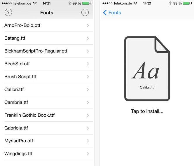 AnyFont ne ajuta sa instalam orice fonturi in iOS fara a face jailbreak