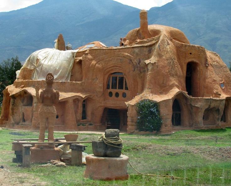 terracotta house in colombia just outside villa de leyva.