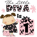 Little Diva 1st Birthday Tshirts, bodysuits, cards, stickers, tote bags, and other Little Diva design first birthday clothing and gifts. @Elizabeth Goodwin