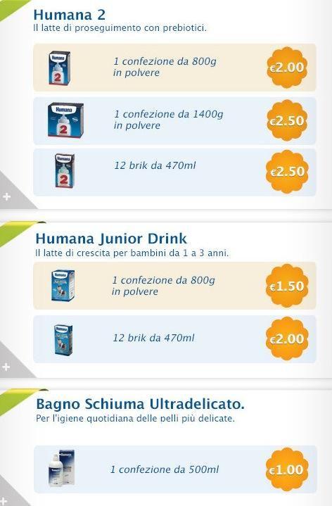 Coupon da stampare Humana | Campioni omaggio gratuiti, Concorsi a premi, Buoni sconto - DimmiCosaCerchi.it