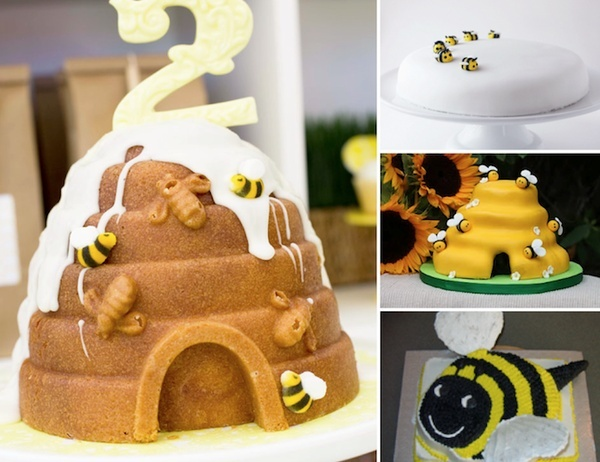Bee Baby Shower and Childrens Birthday Party Cakes - Tarta de abejas para baby shower y fiesta de cumpleaos infantil - La Belle Carte