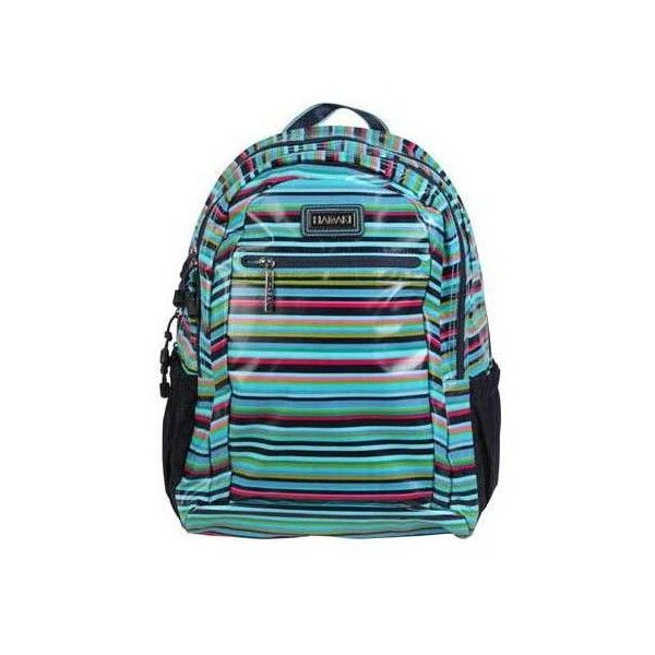 Women's Hadaki by Kalencom Cool Backpack (560 MAD) ❤ liked on Polyvore featuring bags, backpacks, computer cases, none, stripe backpack, hadaki backpacks, water repellent backpack, striped backpack and day pack backpack