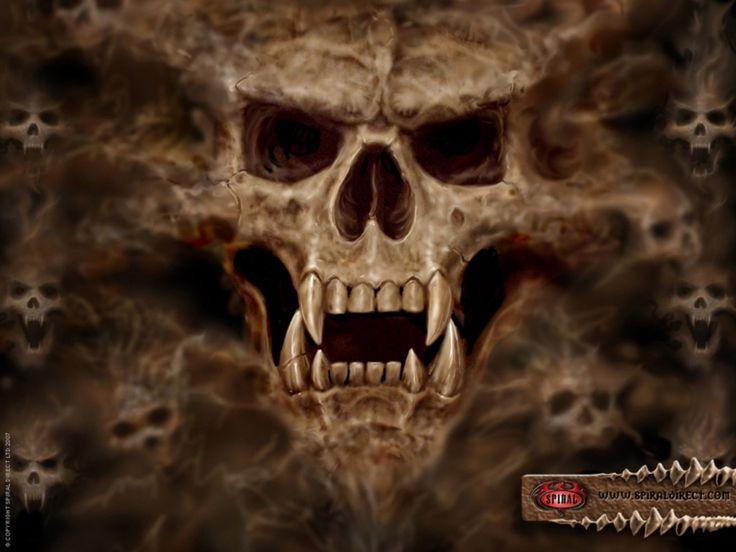 32 Unholy #Digital Gothic #Art Skulls