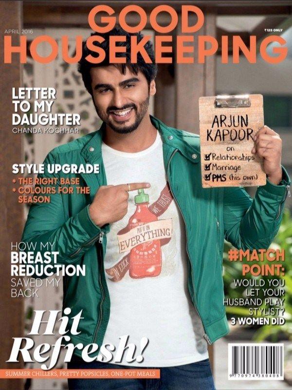 Good Housekeeping April 2016 Issue- Hit Refresh  #GoodHousekeeping #ArjunKapoor #ebuildin #GHIndia