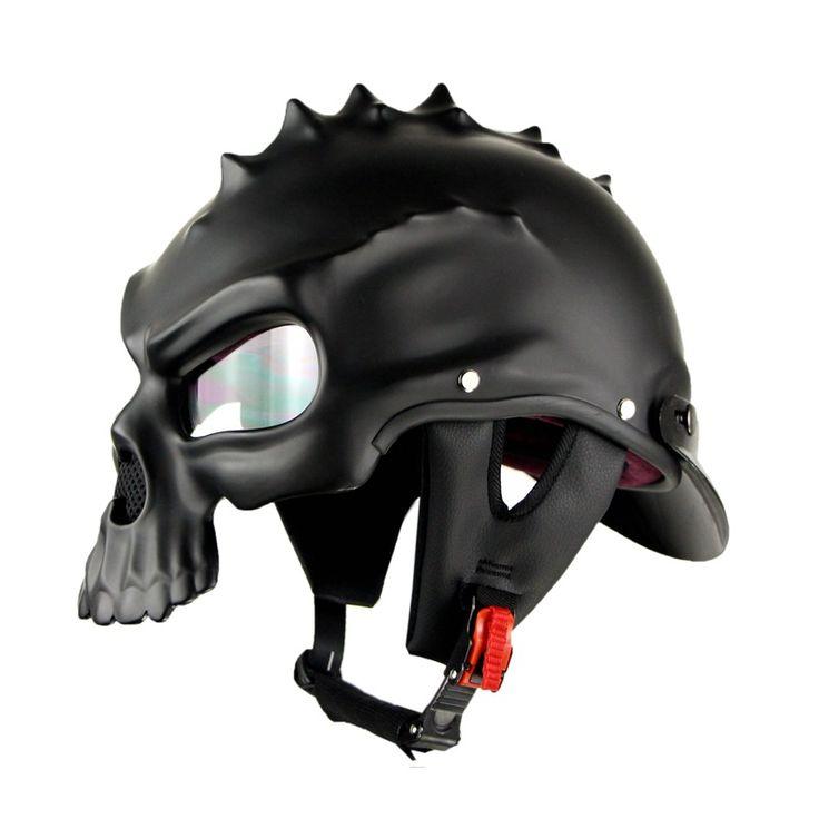 best price motorbike bld color dual use skull motorcycle helmet casco novelty retro casque #novelty #motorcycle #helmets