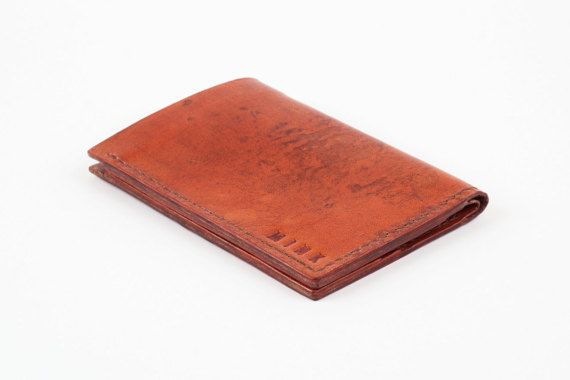Mens Leather Wallet Mens Leather Wallet Bi-Fold by MinkLeather