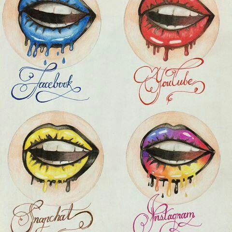 Social Media Art Lips