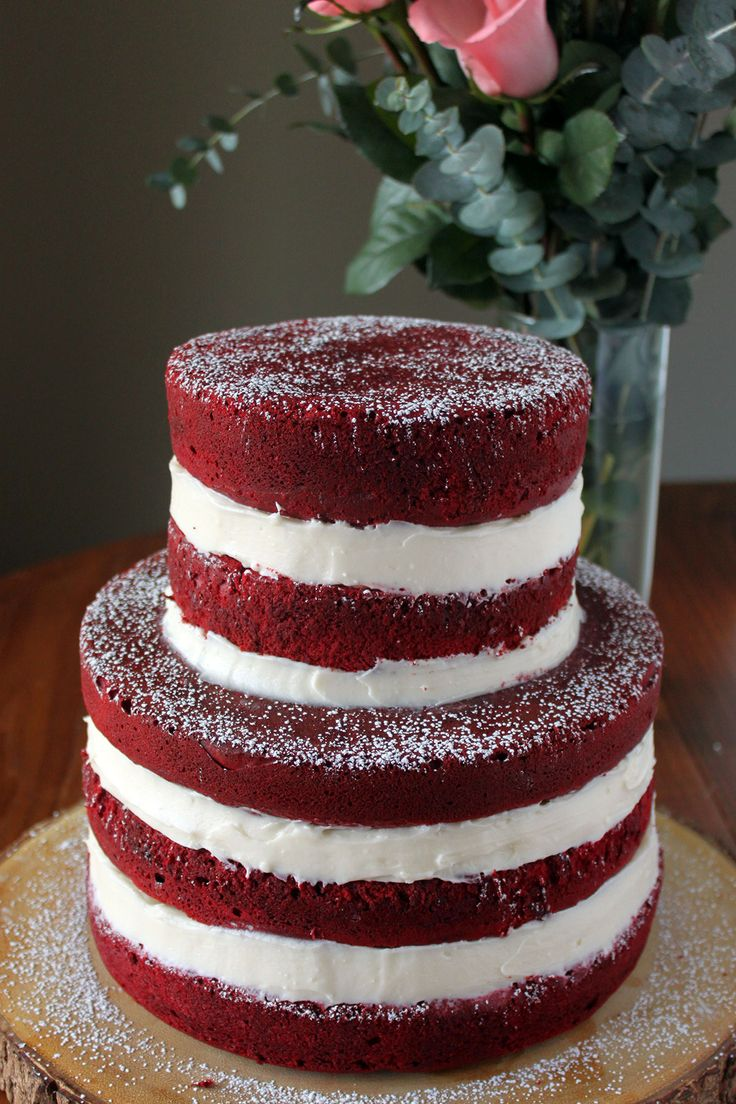 Naked Red Velvet Cake - Paint the Gown Red But cut the sugar or use a sub.