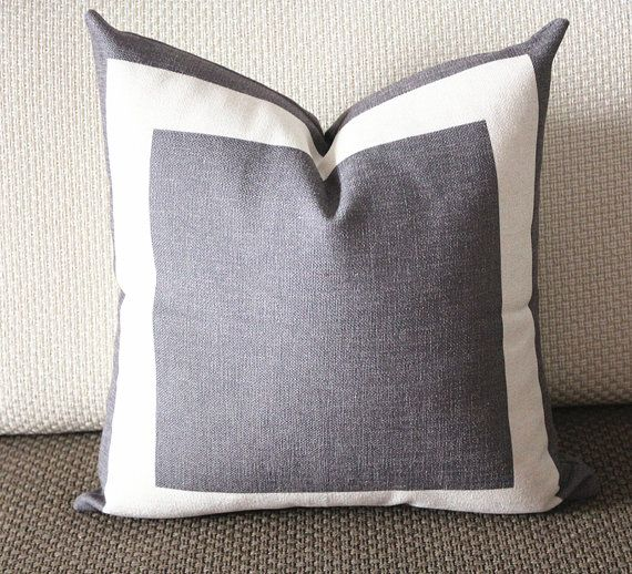 6 colors gray Cotton Canvas Decorative Throw Pillow by sweetystore Jenny Pinterest Pillow ...