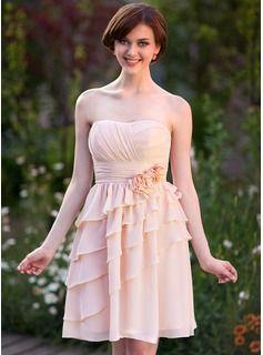 Robes+de+soirée+de+mariage+-+$114.99+-+Forme+Empire+Bustier+en+coeur+Mi-longues+Mousseline+de+soie+Robe+de+demoiselle+d'honneur+avec+Plissé+Fleur(s)++http://fr.dressfirst.com/Forme-Empire-Bustier-En-Coeur-Mi-Longues-Mousseline-De-Soie-Robe-De-Demoiselle-D-Honneur-Avec-Plisse-Fleur-S-007025370-g25370