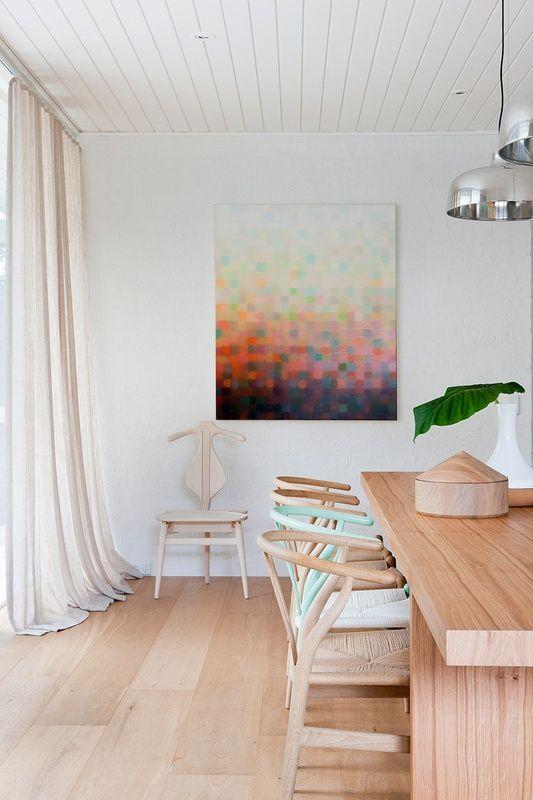 American Oak #floors by #Royal Oak Floors. www.royaloakfloors.com.au Pastel Interior by Hecker Guthrie