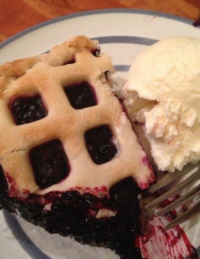 Black Raspberry Pie and Vanilla Ice Cream