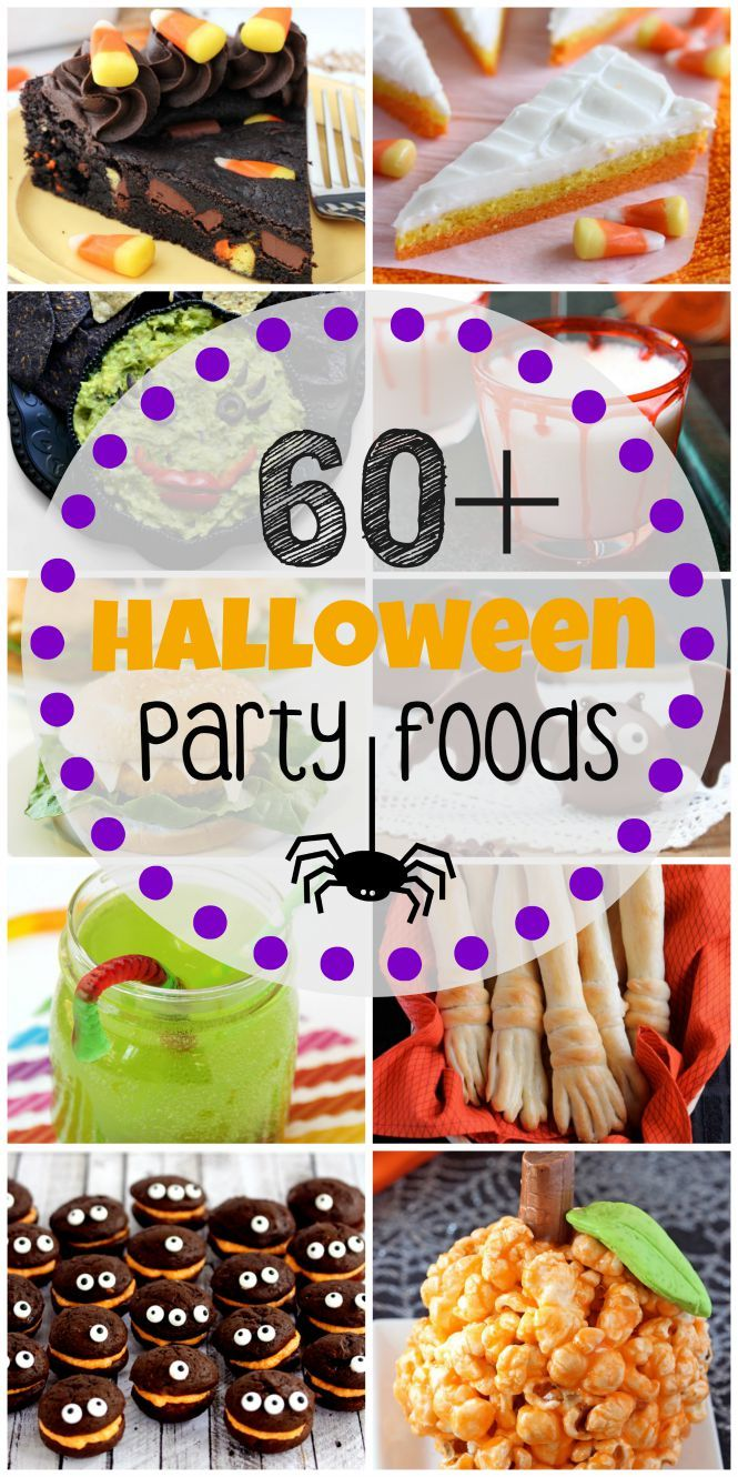 60+ Halloween Party Foods - Fun sweets, dips, dishes, and drinks perfect for any Halloween gathering.