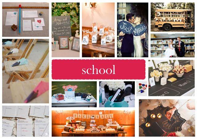 School inspired Wedding Vision Board