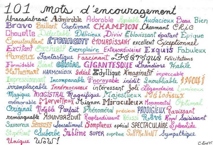 101 mots d'encouragement (par C-line L.)